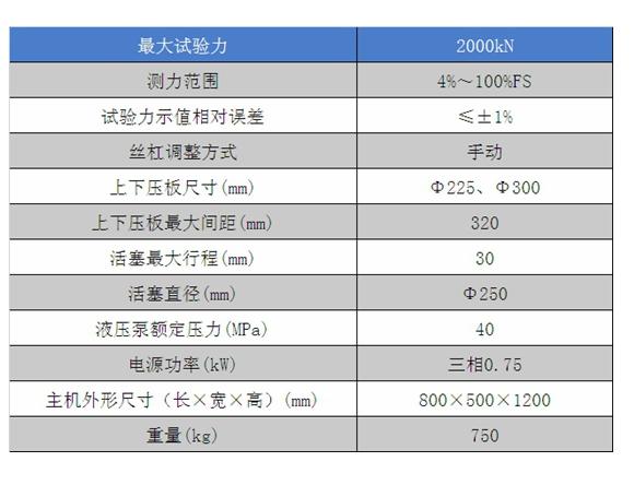 数显式压力试验机YES-2000技术参数
