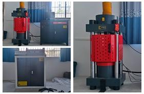 【江西】赣州市建筑工程质量检测公司购买200吨全自动<font color='red'>压力试验机</font>,钢筋弯曲试验机安装调试完成。